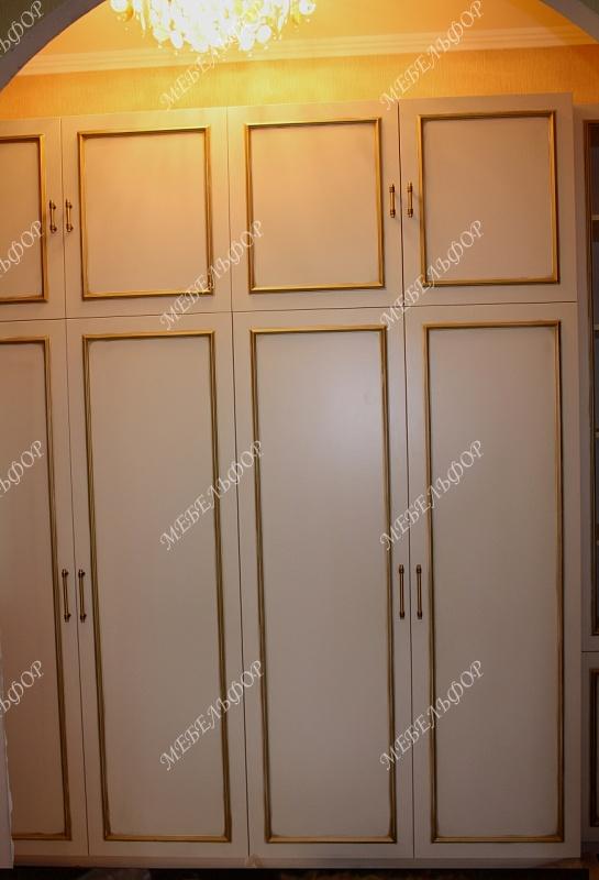 Шкафы франц (мдф, золотая патина).