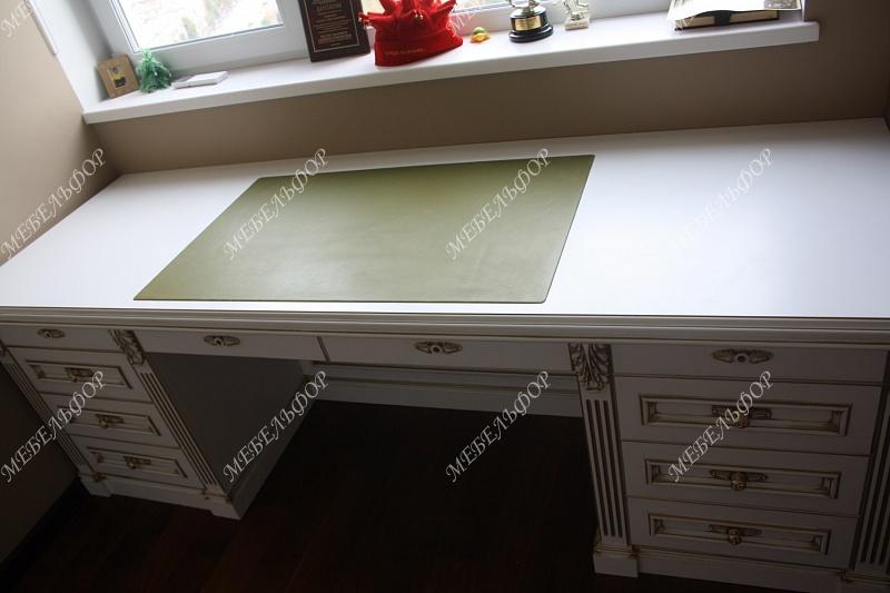 Мебель для кабинета альфредо (мдф, эмаль с патиной).
